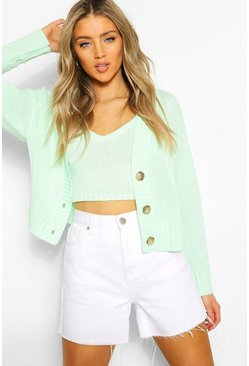 Mint Cardigan & Bralet Knitted Co-Ord