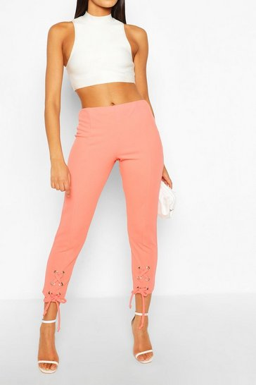 Coral Lace up Trouser