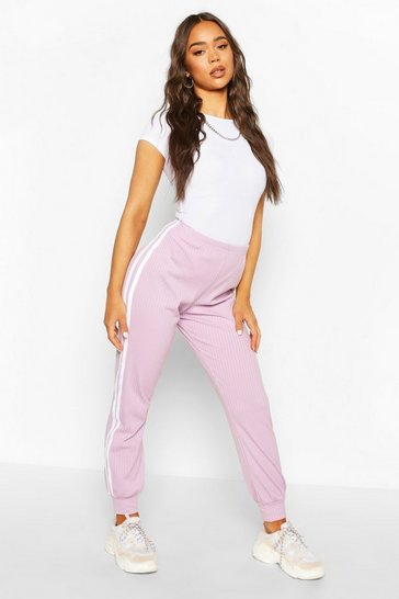 Orchid Sports Stripe Ribbed Jogger