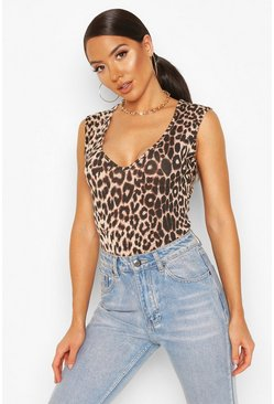 Animal Sleeveless Bodysuit