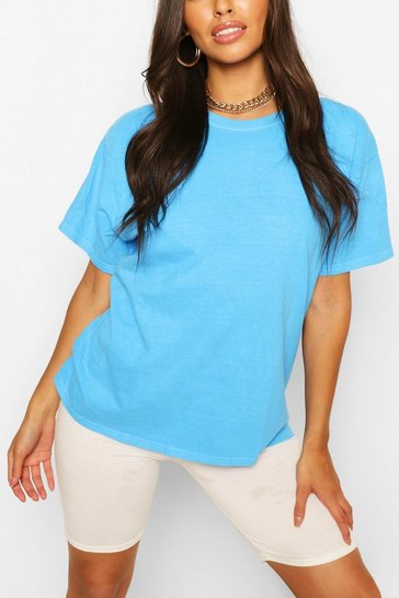 Aqua Washed Oversized T-Shirt
