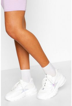 White Rainbow Pastle Colour Chunky Trainers