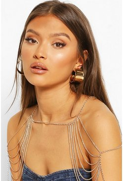 Gold Super Chunky Hoop Earrings