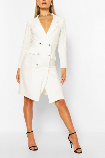 White Midi Blazer Dress