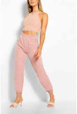 Blush Woven Tailored Jogger