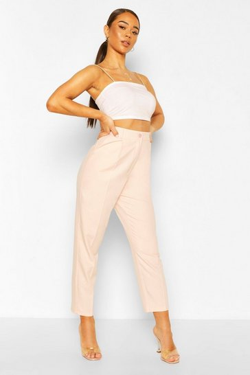Pale pink Straight Leg Tailored Trouser