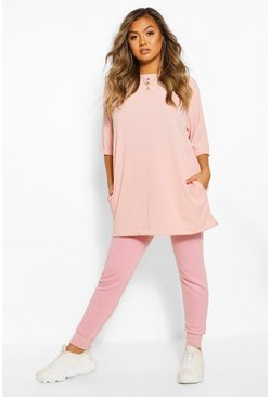 Blush Rib Oversized Top
