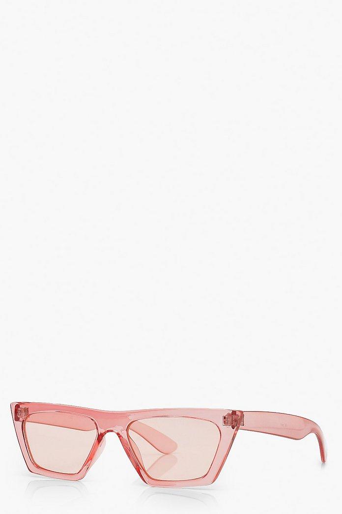 Oversized Cat Eye Sunglasses   boohoo