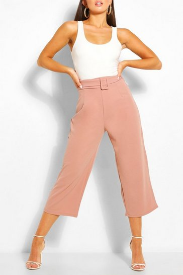 Rose Self Belt Culottes