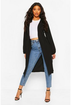 Black Tie Sleeve Duster