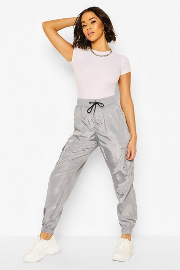 Grey Pocket Detail Track Pant