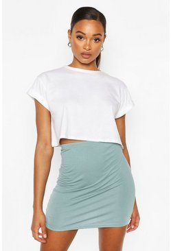 Aqua Basic High Waist Mini Skirt