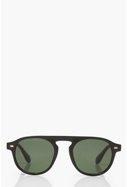 Black Classic Rounded Sunglasses