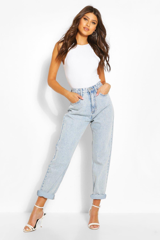 Vintage High Waisted Trousers, Sailor Pants, Jeans Womens High Rise Mom Jean - Blue - 10 $50.00 AT vintagedancer.com