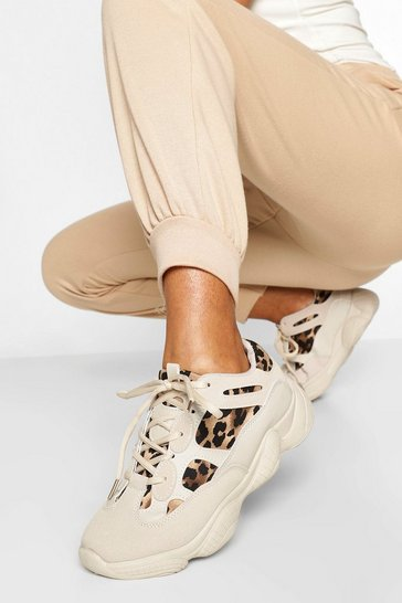 Leopard Print Chunky Sole Trainers
