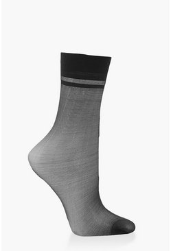 Black Sheer Ankle Socks