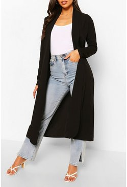 Black Tailored Duster