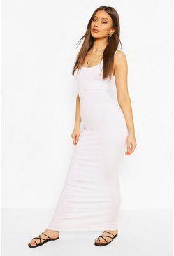White Recycled Basic Maxi Dress