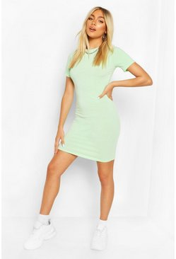 Mint Recycled Basic Short Sleeve Mini Dress