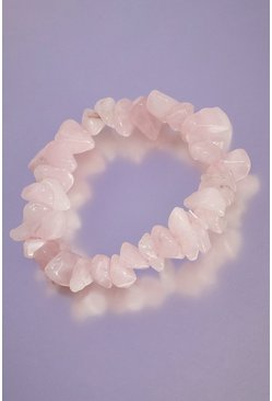 Pink Rose Quartz Crystal Bracelet