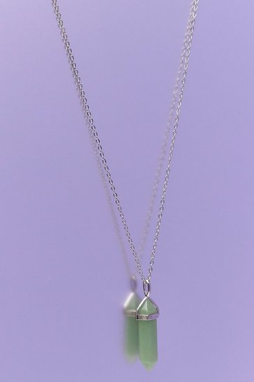 Green Aventurine Crystal Pendant Necklace
