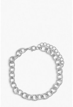 Silver Simple Chain Anklet