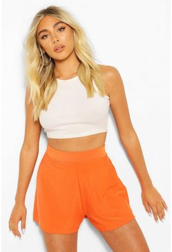 Orange Recycled Basic Floaty Shorts