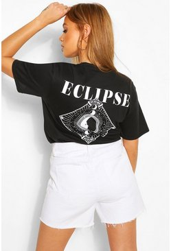 Black Eclipse Back Print T-Shirt
