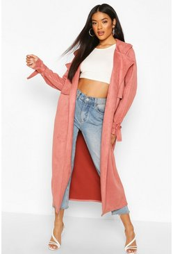 Rose Suedette Trench Coat