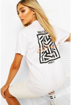 White Woman Geo Print T-Shirt