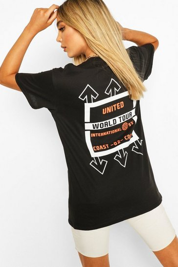 Black United Graphic Print T-Shirt