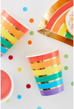 Multi Ginger Ray Rainbow Cups 8 Pack