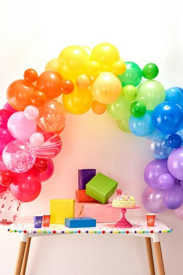 Multi Ginger Ray Rainbow Balloon Arch