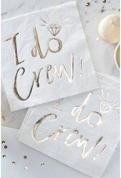 Gold Ginger Ray I Do Crew Foil Napkins 10 Pack
