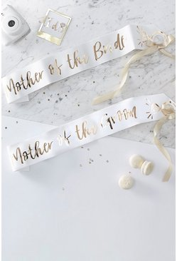 "Ginger Ray 2er-Pack Schärpen mit ""Mother of the Bride""-Folienprint, Gold"