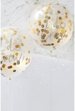 Ginger Ray I Do Crew Gold Confetti Balloons