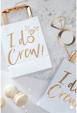 Ginger Ray I Do Crew Foil Gift Bag 5 Pack, Gold