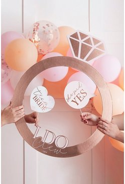 Rose gold Ginger Ray Wedding Ring Photo Booth Frame