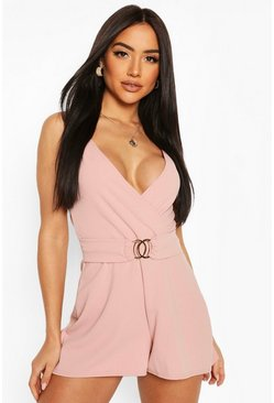 Blush Wrap Front Strappy Playsuit