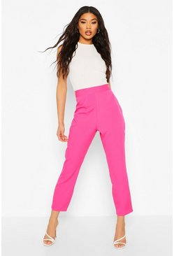 Hot pink Woven Tapered Tailored Trouser
