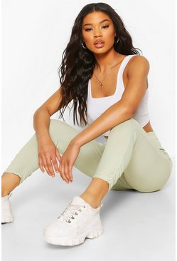 Sage Ruched Ankle Ribbed High Waist Legging