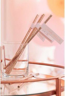 Ginger Ray Rose Gold Team Bride Straws