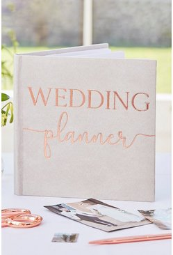 Rose gold Ginger Ray Foil Wedding Planner Book