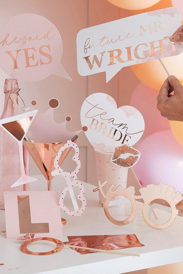 Ginger Ray Rose Gold Photo Booth Props