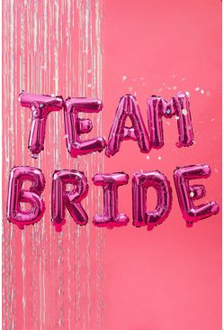 Ginger Ray Team Bride Foil Balloon Bunting , Pink