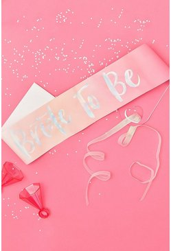 Ginger Ray Bride To Be Sash , Pink