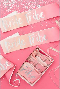 Pink Ginger Ray Bride Tribe Sashes 6 Pack