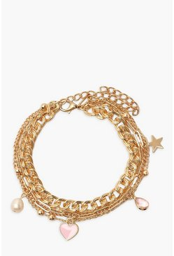 Gold Layered Charm Anklet