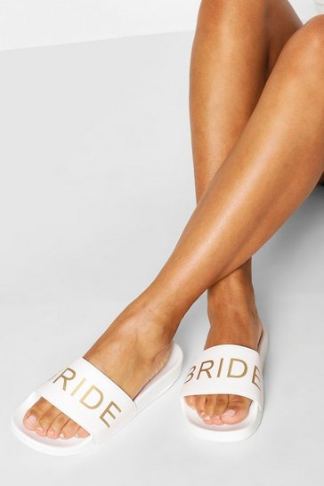White Bride Metallic Slogan Sliders