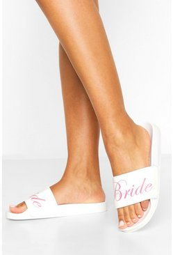 White Bride Slogan Sliders